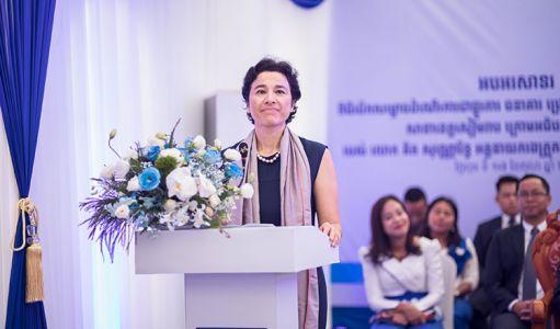 H.E.Eva Nguyen Bin French Ambassador
