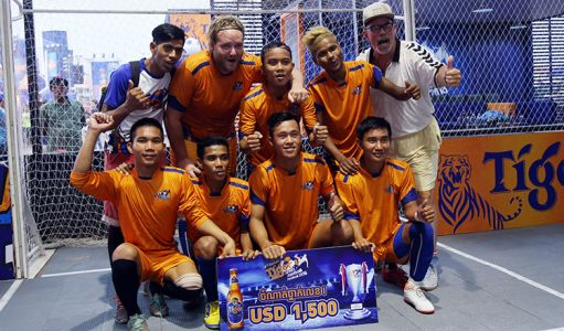 The historic city of Siem Reap saw a record of 112 teams competing for a berth in the March 10-11 grand final. After navigating a tricky knockout stage, Next Step FC met Siem Reap FC, grand finalists at last years' competition, in February 9 provincial final. In a final full of attacking flair, Next Step seized a 3-2 victory to claim the provincial prize of $1,500 and a ticket to the March grand final in Phnom Penh. PHOTO: Yuean Punlue