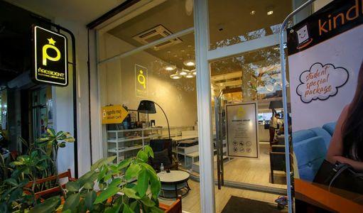 PRESIDENT Inspiring Library Cafe in Psar Kandal II.