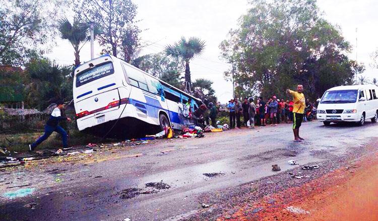 Five die, German injured in traffic accident - Khmer Times