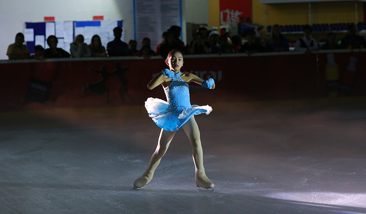 Ice skating CAMBODIA-STYLE