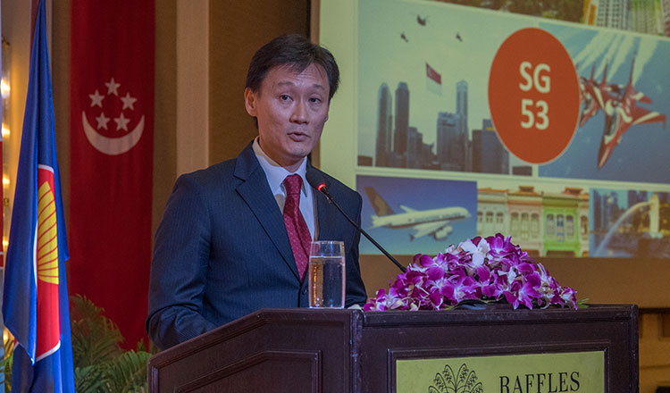 53rd Singapore National Day Reception on August 9, 2018 held at the Ballroom of Raffles Hotel Le Royal