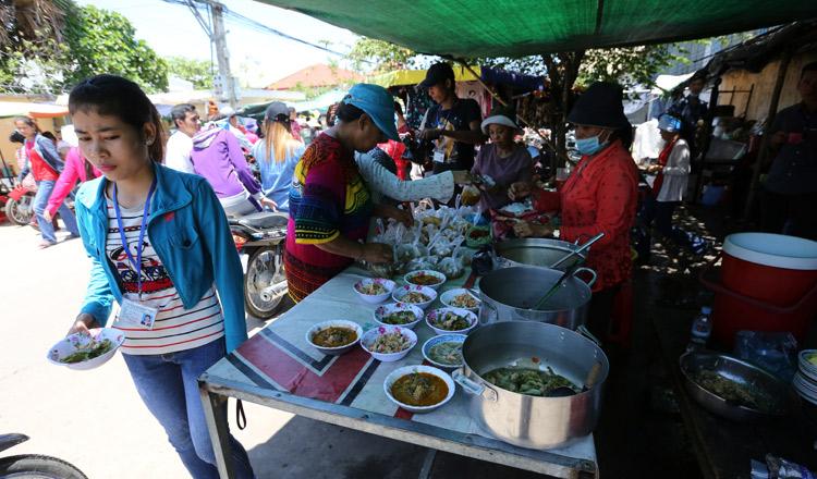 Garment worker meal
