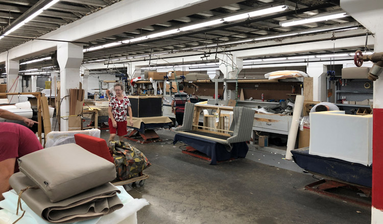 The Embly Line At Bernhardt Furniture Company Where Focus Has Shifted To Upholstered And Other Goods That Allow Greater Customisation Reuters