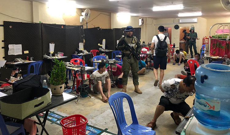 More than 200 scammers arrested in Takeo province - Khmer Times