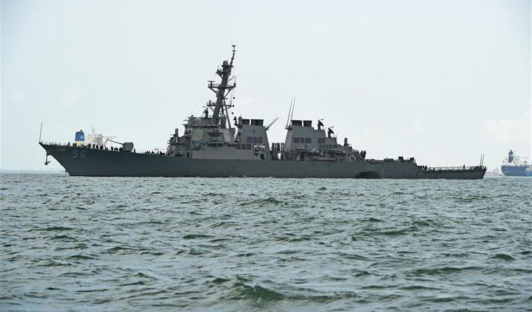 US Navy, Coast Guard ships pass through Taiwan Strait - Khmer Times
