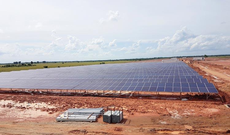 A solar farm in Svay Rieng