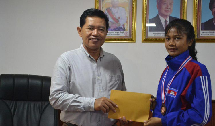 Track medalist gets windfall - Khmer Times