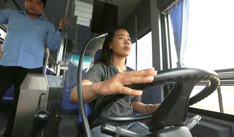 Female-city-bus