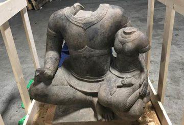 ancient khmer sand stone