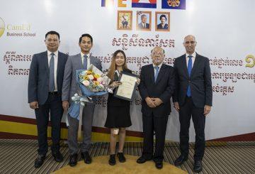 cambodia student win award